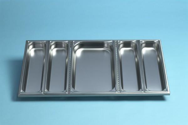 Profit-Line 95000 Pultaufsatzrahmen Edelstahl - nach vorne geneigt