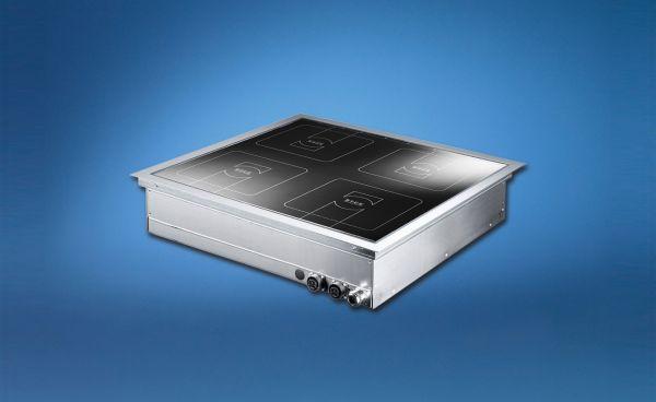 Einbau Induktionskochfeld 20 kW mit 4 Kochstellen mit Flex Steuerung Scholl Typ Z0268