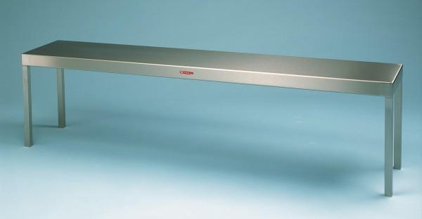 Edelstahl Aufsatzbord mit Rohrstehern - Tiefe 400 mm