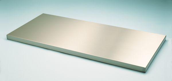 Arbeitsplatte - Stärke 1,0 mm - Tiefe 500 mm, Edelstahl