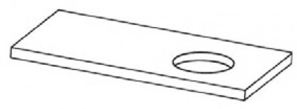 Tischplattenausschnitt rund
