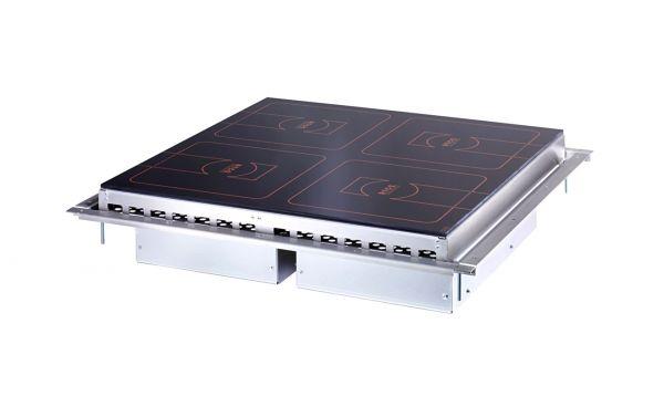 Induktionherd 4 x 3,5 kW 4 Kochzone mit Flex-Steuerung Einbaurahmen Scholl Typ Z1516