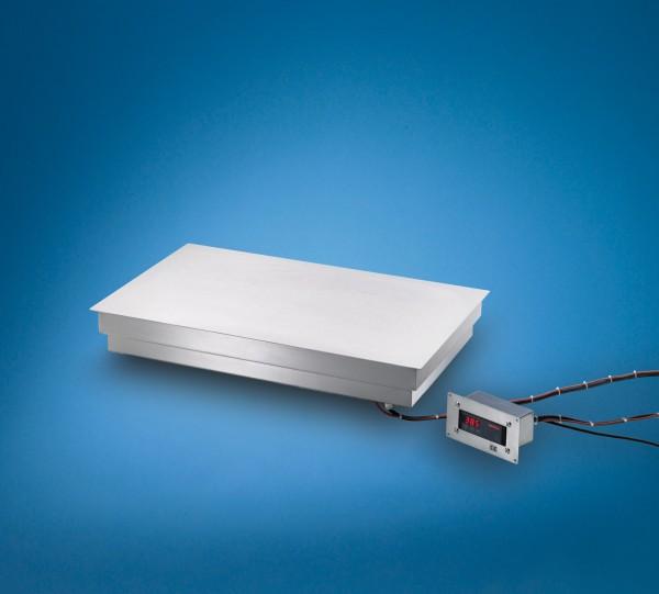 Edelstahl Warmhalteplatte zum flächenbündigen Einbau - DIGITAL Scholl Modell 26060 FB DIG