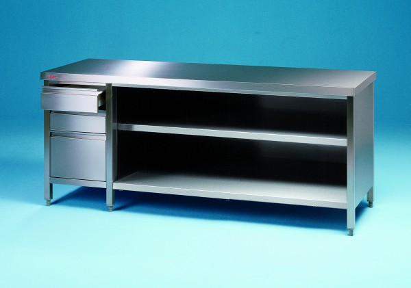 Arbeitsschrank offen mit Schubladenblock - Tiefe 800 mm Made in Germany by SCHOLL