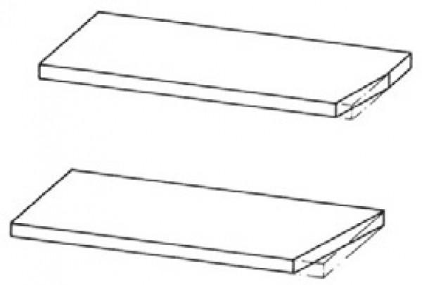 Tischplattenecke abgeschrägt