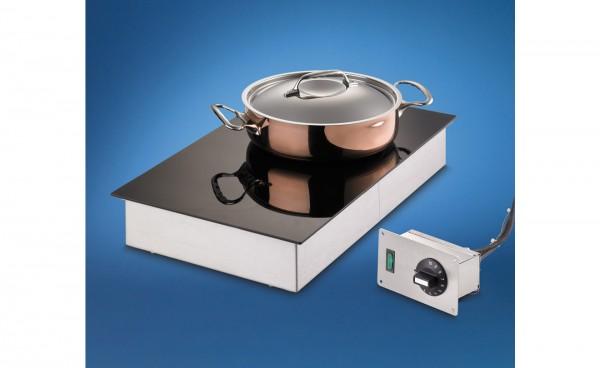 Ceran Warmhalteplatte zum flächenbündigen Einbau SCHOLL 26040 FB Einbau 30 - 90 °C