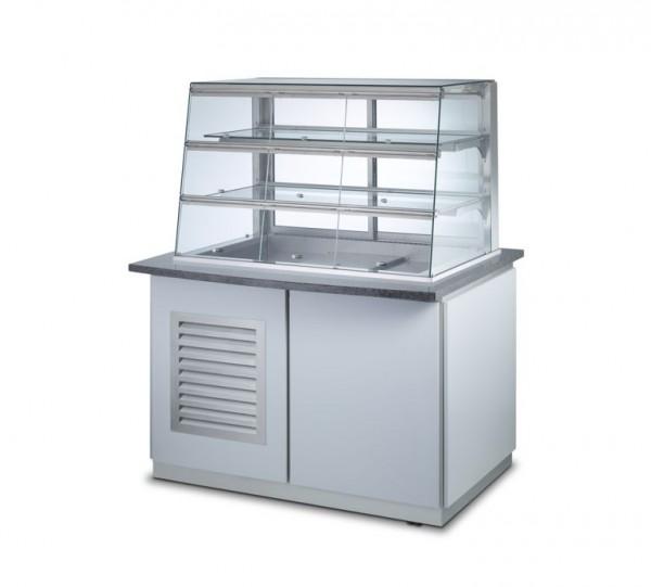Profit-Line 95000 Umluftkühlvitrine mit Entnahmeklappen und Unterbau - versch. Größen