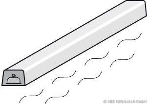 SCHOLL Wärmestrahler 1500mm bis 1700mm Länge B2005-WS - passend alle Modelle
